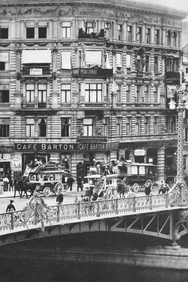 Berlin, Weidendammbrücke, circa 1890