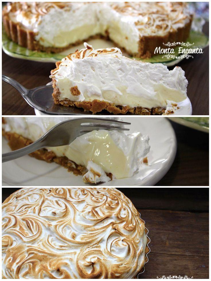 Não tem amor no mundo que resista a uma torta de limão com marshmallow, feita por você! Pode apostar é tiro certeiro