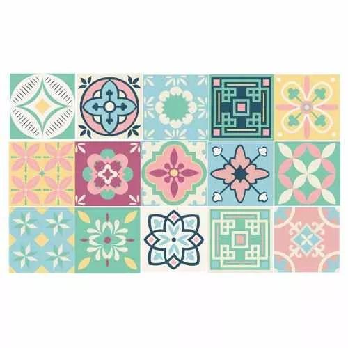Azulejos Vinilo Calcáreos Vintage Decoracion Mosaico Cocina - $ 250,00