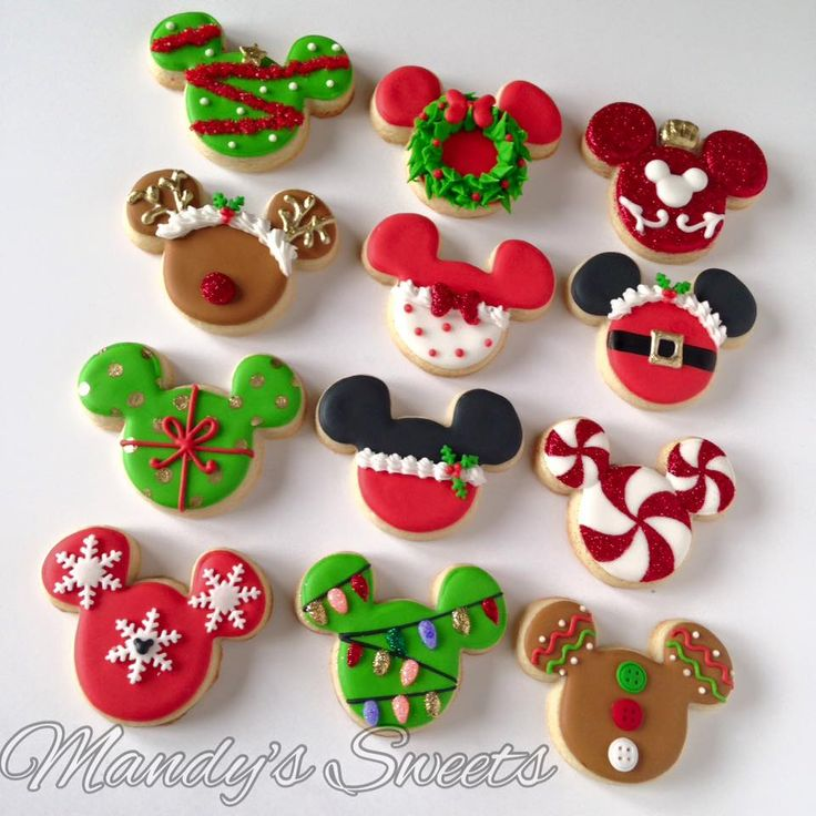 Mandys Sweets - Mickey Christmas inspired cookies. $30 pick up...