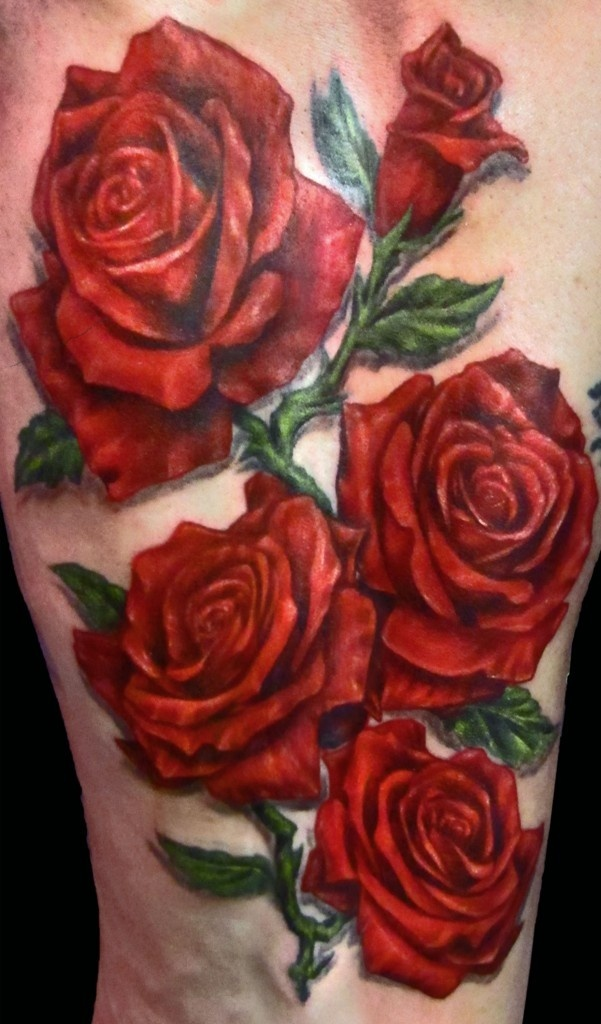 Roses tattoo, realistic. How do they do that??