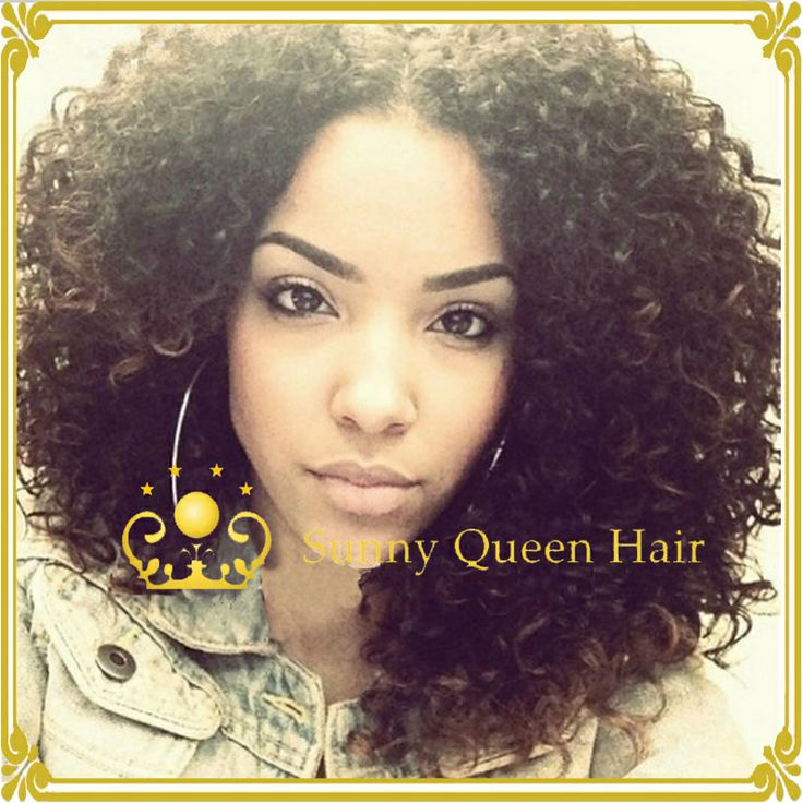 56 best curly extentions images on pinterest braids beautiful glueless brazilian virgin hair lace front wig kinky curly 100 human hair wig for black pmusecretfo Gallery