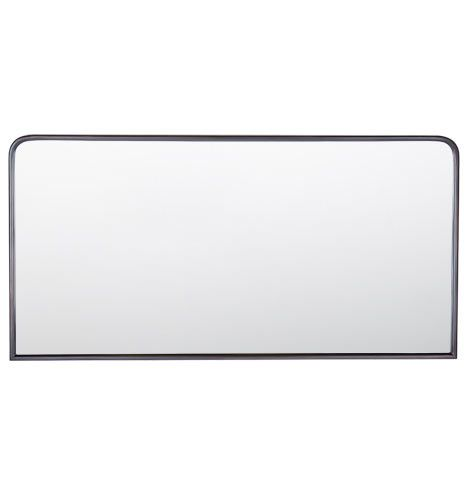 Metal Framed Mirror Rounded Rectangle Oil Rubbed Bronze