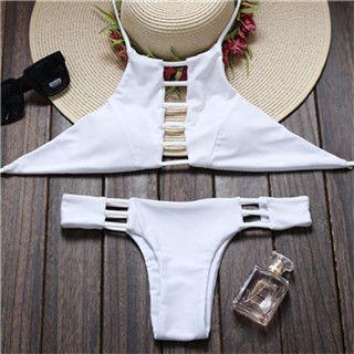 Reversible Lady Bandage Bikini Halter Swimsuit Bandeau Bikini Brazilian Maillot De Bain