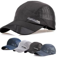 Casual Men's Thin Breathable Quick Dry Outdoor Sunshade Mesh Baseball Cap