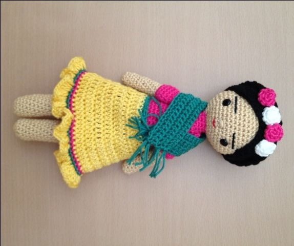 Frida, crochet doll de cutecrochetlapaz en Etsy