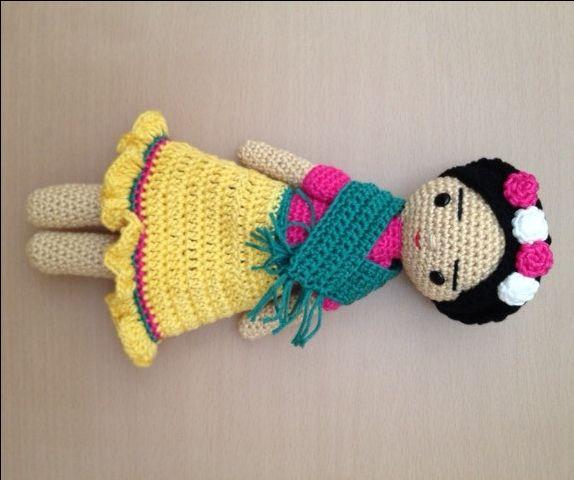 Frida, crochet doll de cutecrochetlapaz en Etsy