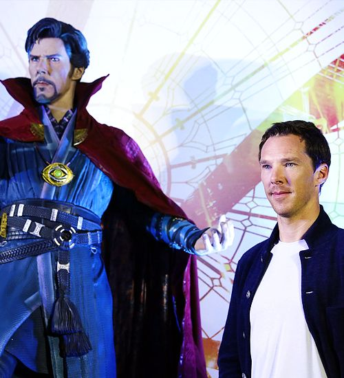 Benedict Cumberbatch attends a press conference for the latest Marvel movie 'Doctor Strange' on 13 October, 2016 in Hong Kong, China