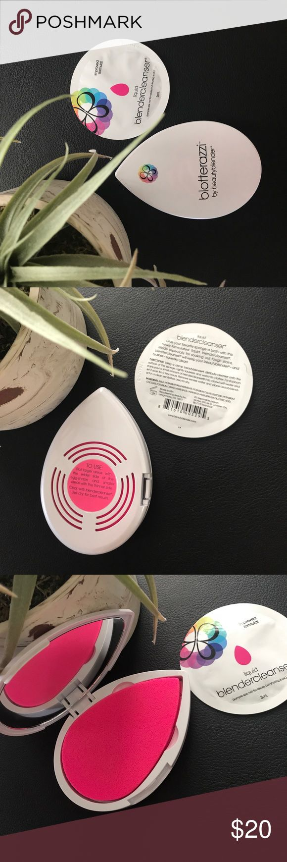 Beauty Blender Cleanser and Blotterazzi Bundle New and unused liquid beauty blender cleanser and the bloterazzi with a compact mirror. Beauty Blender Makeup