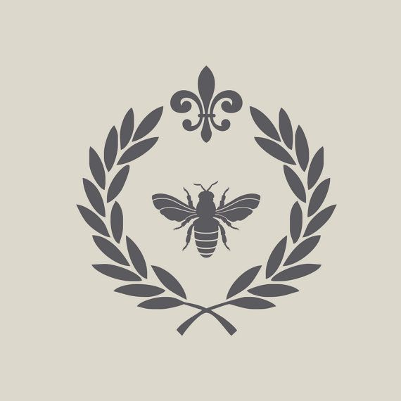 Honey Label Design--add a crown instead of the top symbol and add flowers the bees use in the leaves??