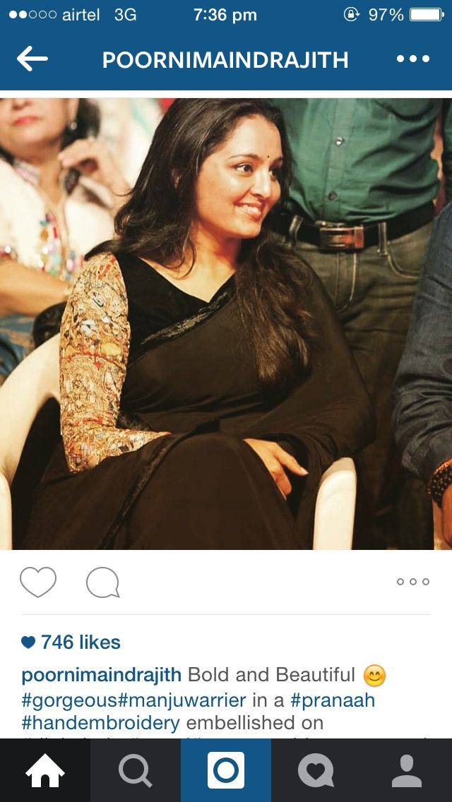Bold and gorgeous manju warrier in pranaah