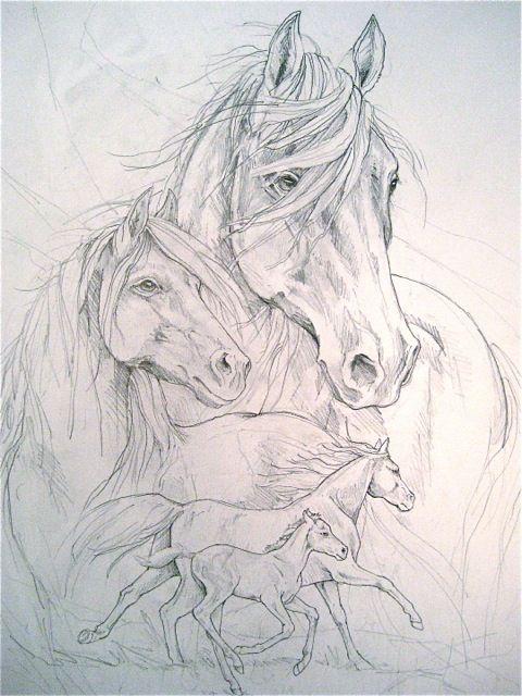 Bergsma Gallery Press :: Paintings :: Originals :: Original Sketches :: 2013/Four Seasons - Original Sketch