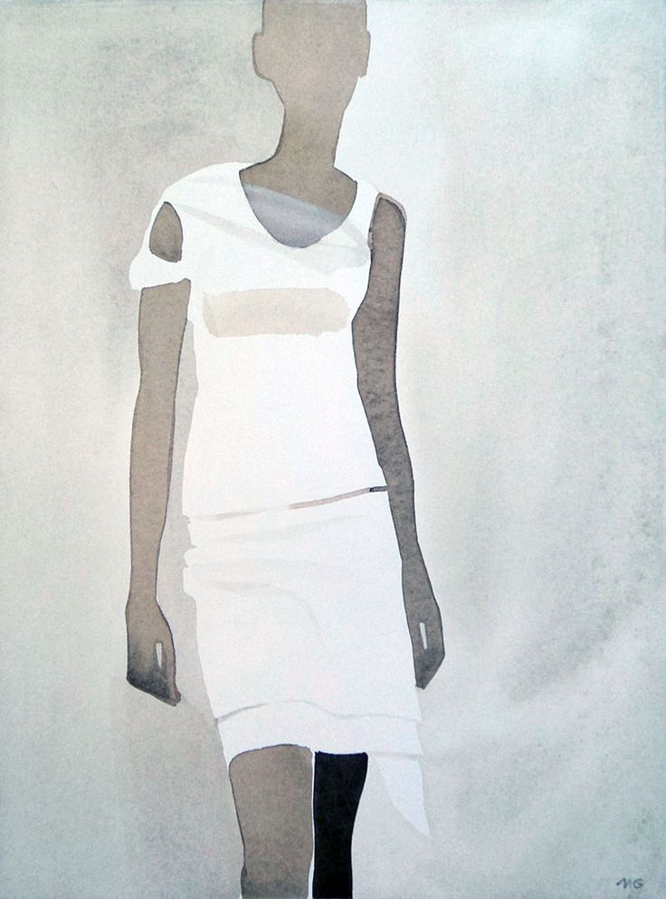 Helmut Lang by Mats Gustafson for Vogue #illustration