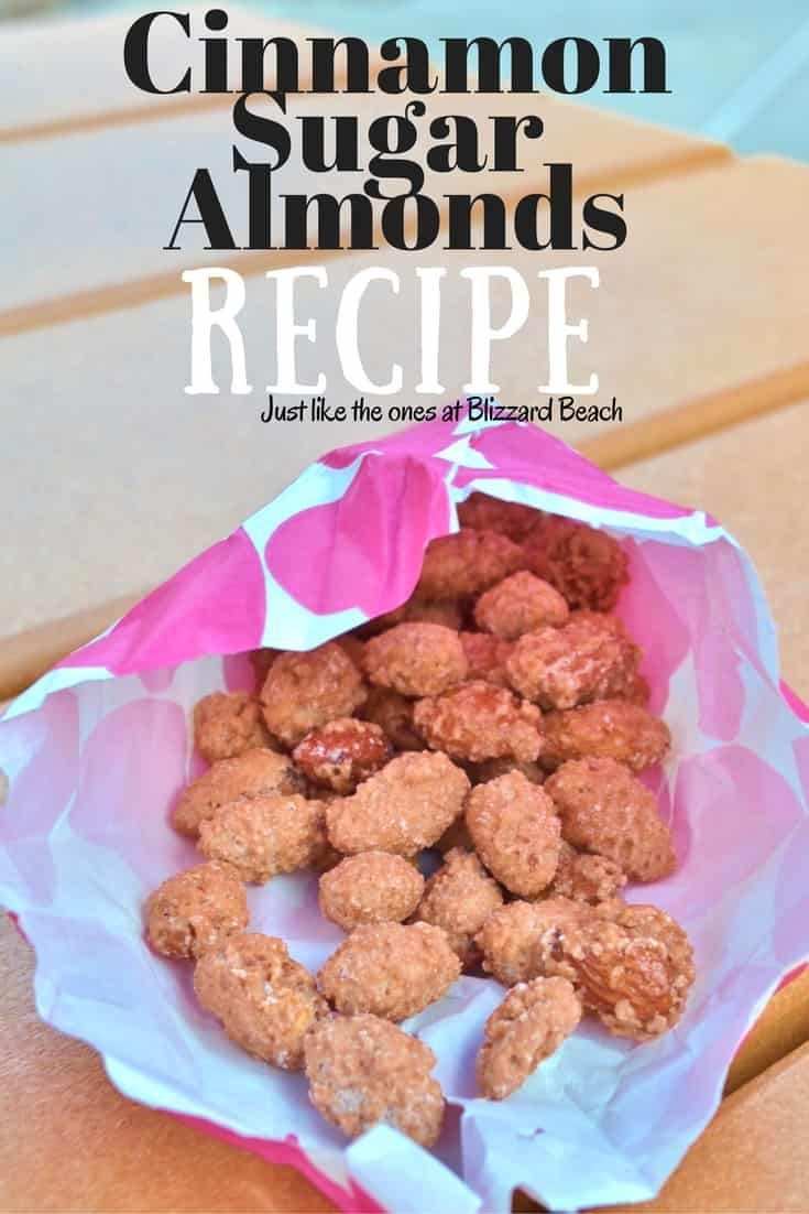 Disney Recipe | Cinnamon & Sugar Almonds Recipe for the crock pot. Just like the ones at Blizzard Beach. via @ disneyinsider
