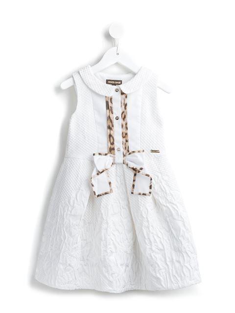Roberto Cavalli Kids quilted jacquard dress