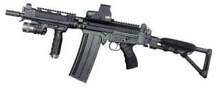 """DSA-58OSW - a select-fire """"sawed off"""" FAL clone made by DS Arms (USA) for police use"""