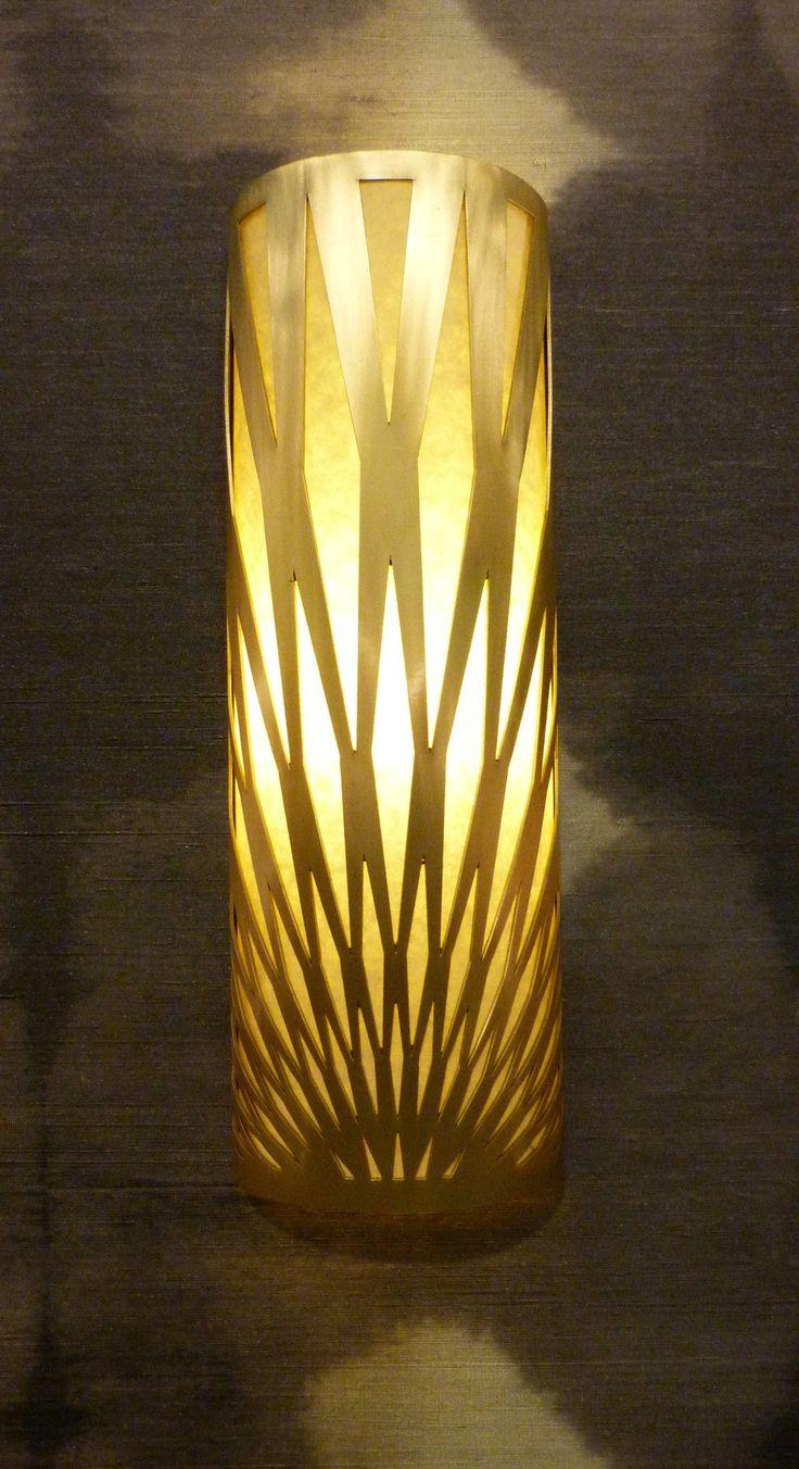 Duke wall light in satin brass