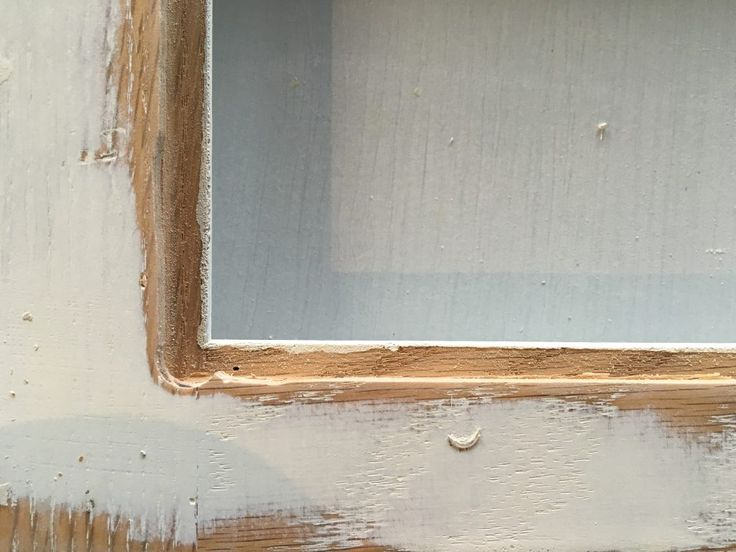 Faux Leaded Glass Wood Panel Removed by SnazzyLittleThings