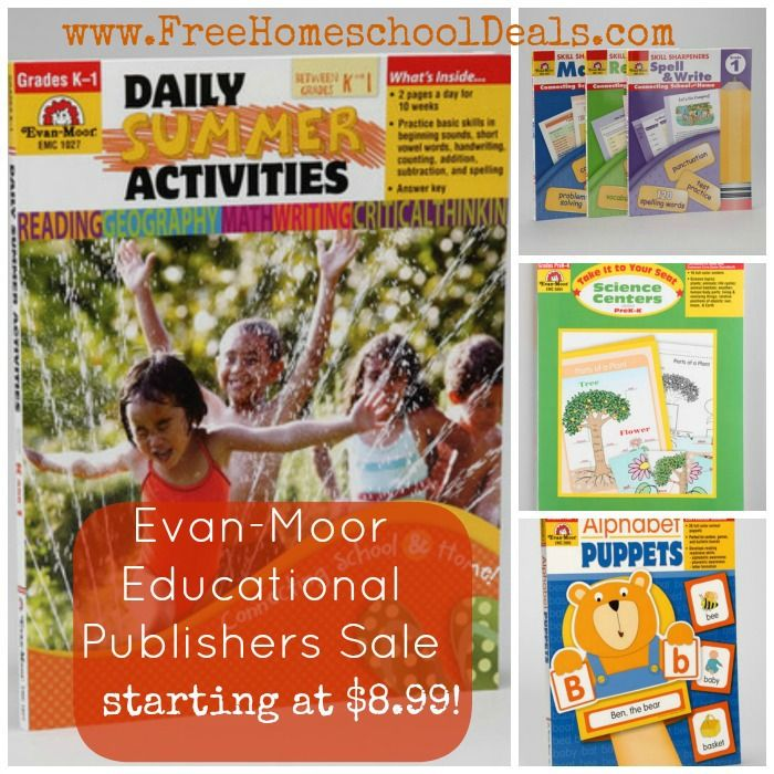 Evan-Moor Educational Publishers Sale - Starting at $8.99!