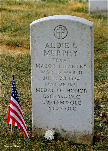Audie Murphy, Arlington National Cemetery (Most Decorated Soldier, WWll) by Tony Fischer Photography, via Flickr