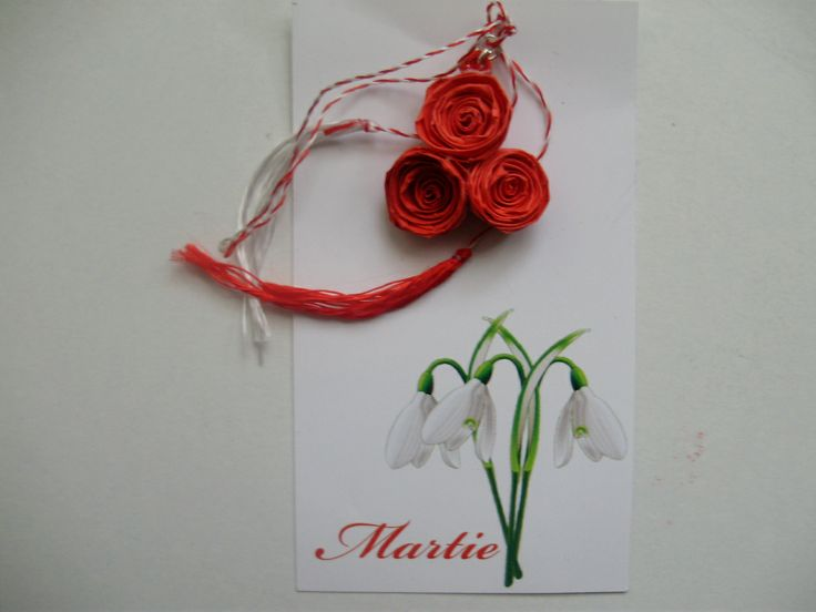 Red roses quilling 3lei