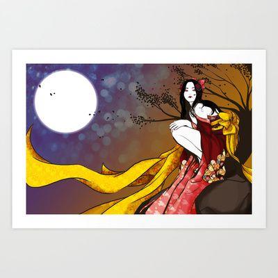 Tamamo no mae Art Print by ♠ Ren