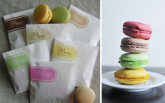 DIY Favor Bags for Macarons    @Delfina Resendes how about we do this for lulus bday???
