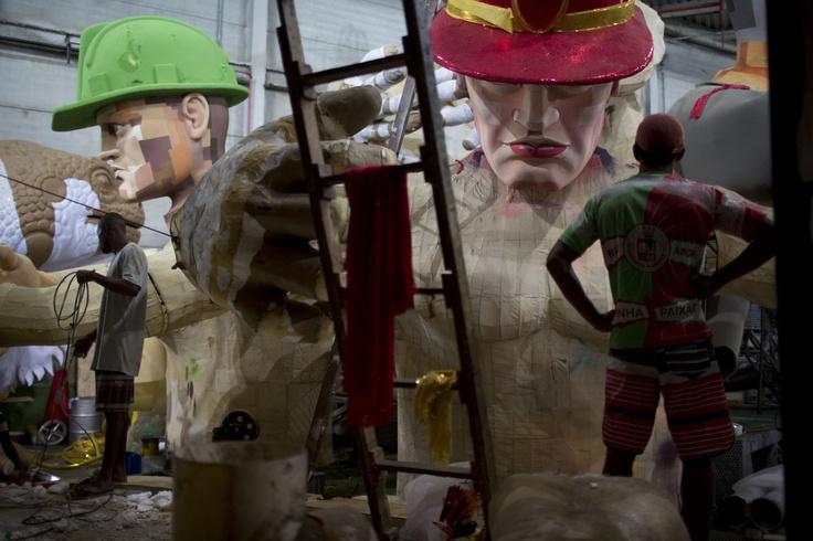 Carnival parade at the Sambadrome in Rio de Janeiro