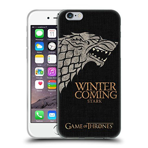 Official HBO Game Of Thrones Stark House Mottos Soft Gel Case for Apple iPhone 6 / 6s