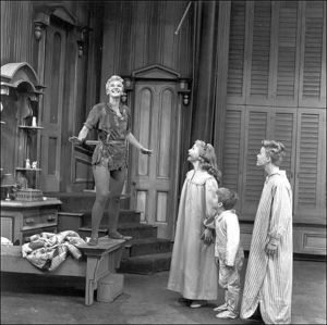 Peter Pan with Mary Martin. My parents took me to see this at the Dallas Summer Musicals...then it was on TV! So cool