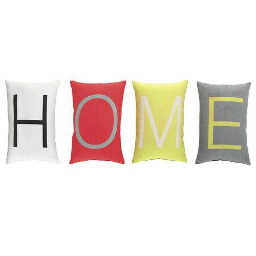4 coussins en coton multicolores 25 x 30 cm HOME