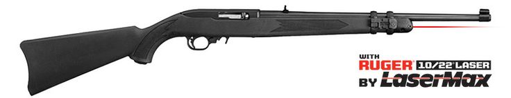The Ruger 10/22 Carbine is now offered with a LaserMax laser mounted on the forend.