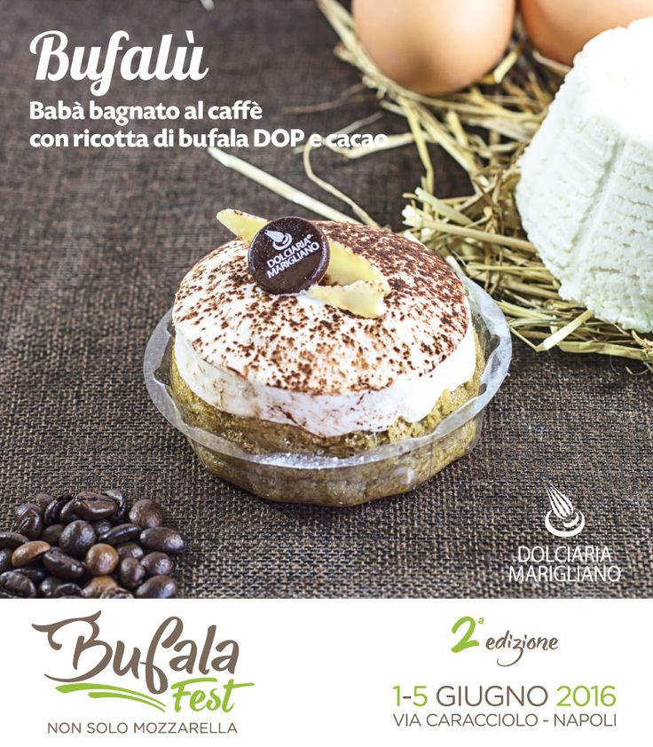Ecco a voi #Bufalù: cuore morbido e il sapore inconfondibile della #Ricotta di #Bufala #DOP  Vi aspettiamo al #BufalaFest di #Napoli per farvi gustare le tante #novità che lo #Chef #AlessandroMarigliano ha preparato per voi