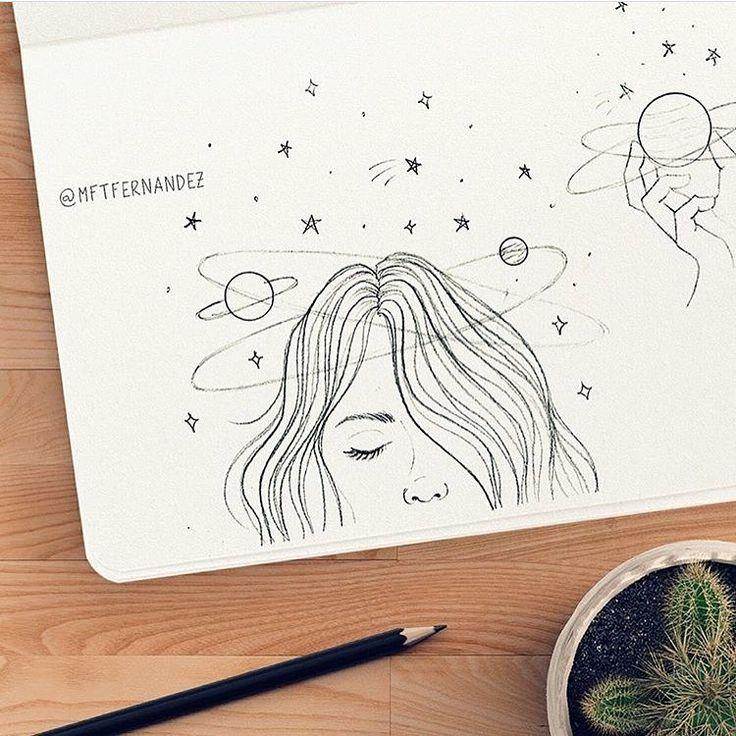 Que hermoso dibujo muestra fragilidad de la vida y del espacio que hermoso♡♡♡♡♡