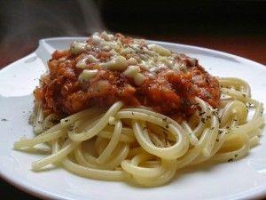 Ala'Antkowe BLW » Spaghetti z sosem z czerwonej soczewicy