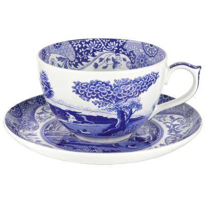 Blue Italian jumbokopp fra Room21. Om denne nettbutikken: http://nettbutikknytt.no/room21/