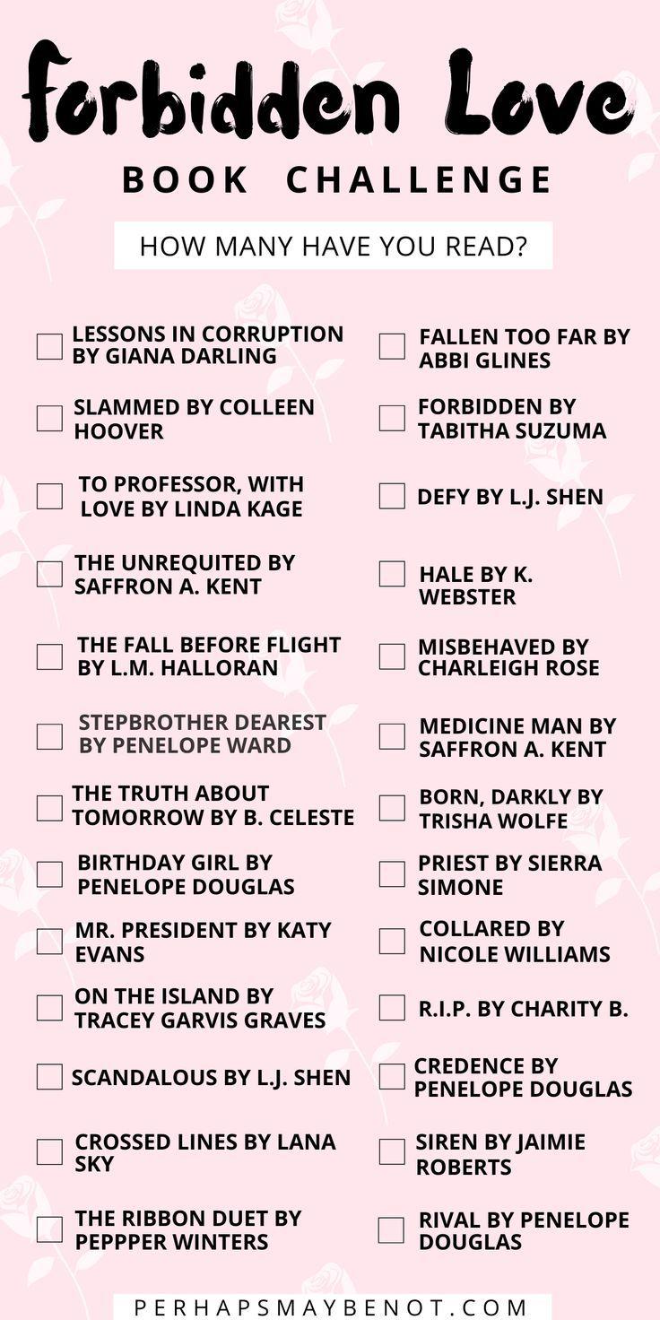 26 Best Forbidden Love Books Perhaps Maybe Not Book Challenge Book Blogger Romance Books