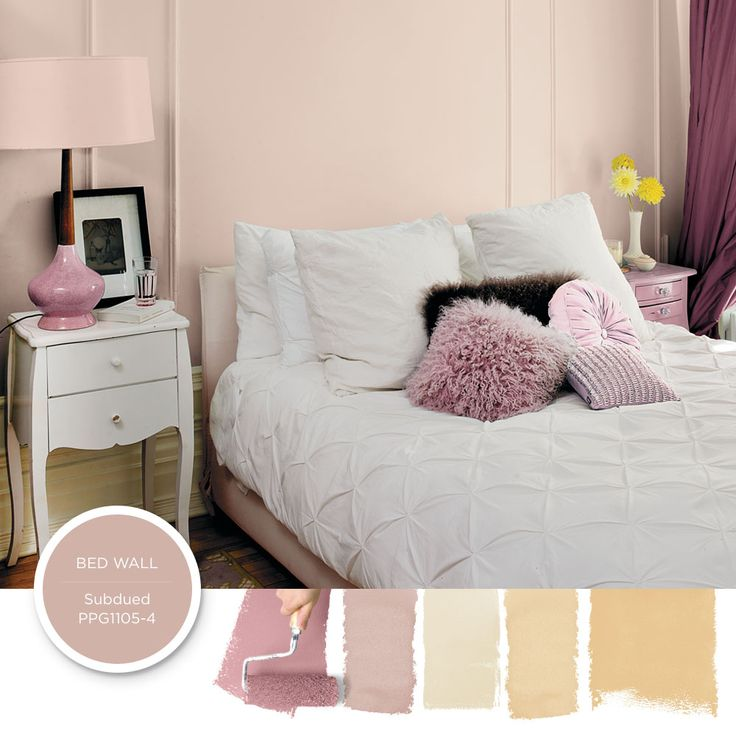 Romantic Glam Style Brings Out Your Tender Side A Pink Wall Color Is An Instant