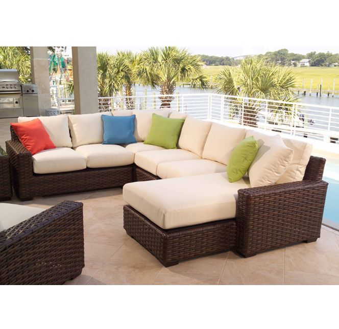 Leather Sectional Sofa Lloyd Flanders Contempo Wicker L Sectional with Chaise Furniture For Patio