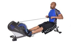 The Stamina 1402 ATS Air Rower effectively targets all major muscle groups to work your arms, legs, abs, and glutes. When you're done exercising, the rower easily folds up and can be rolled out of the way. It's the best part of this air rowing machine. For most competitors in this price range, you'll be lucky to find the best rowing machine under 500 and get the warranty greater than a year.