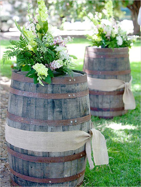 whiskey barrel diy @weddingchicks