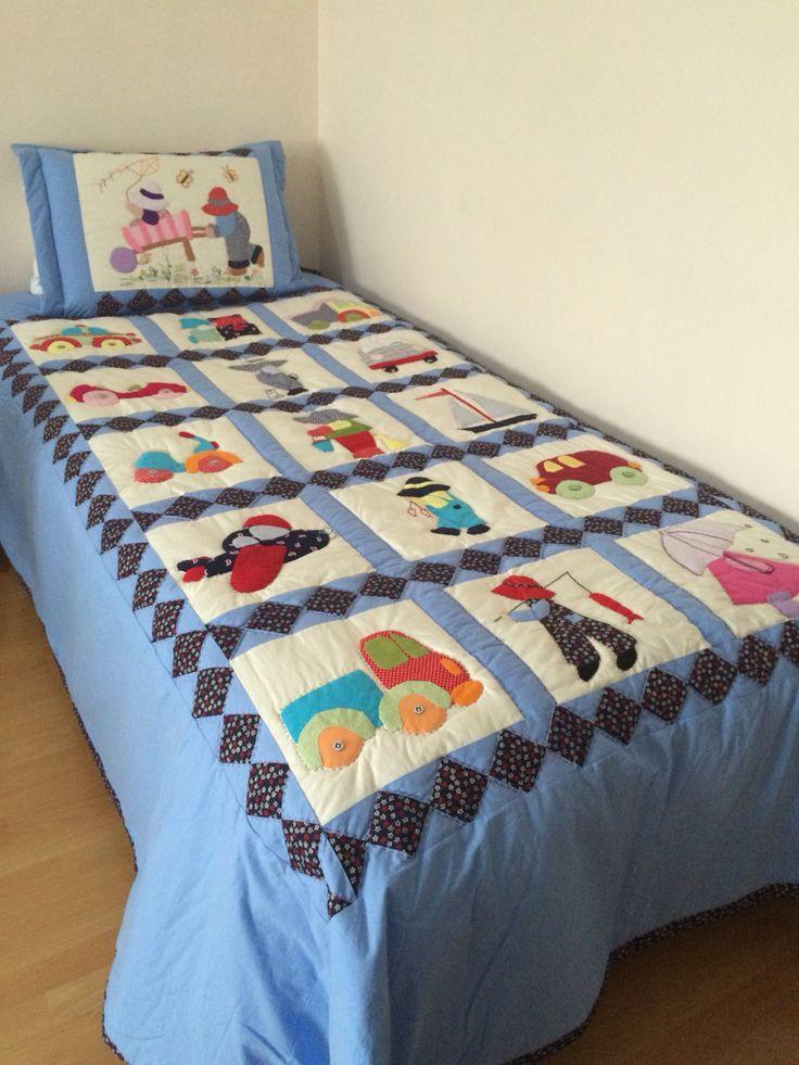 Kırkyama çocuk yatak örtüsü