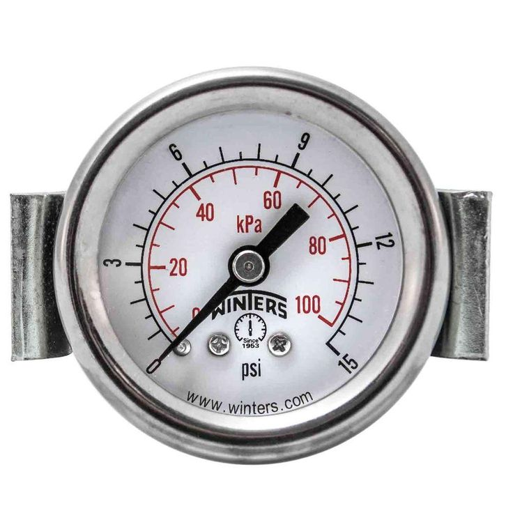PEU Series 1.5 in. Black Steel Case Panel Mounted Pressure Gauge with 1/8 in. NPT CBM and Range of 0-15 psi/kPa