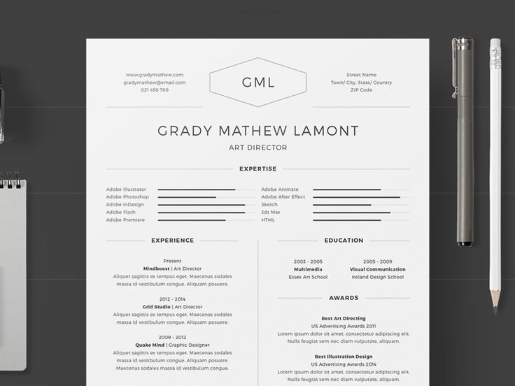 25 best 25+ Professional Resume Templates u2013 PSD,Word,Indesign,DOC - resume templates for indesign