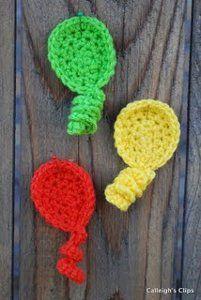 Free Crochet Pattern Balloon Appliques