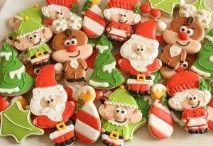 Santa and pals - Santa, elf and Mrs. Claus all cut using snowman cutter