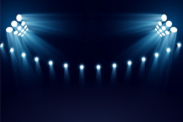 Bright Stadium Lights Stadium Lighting Lights Vector Photo