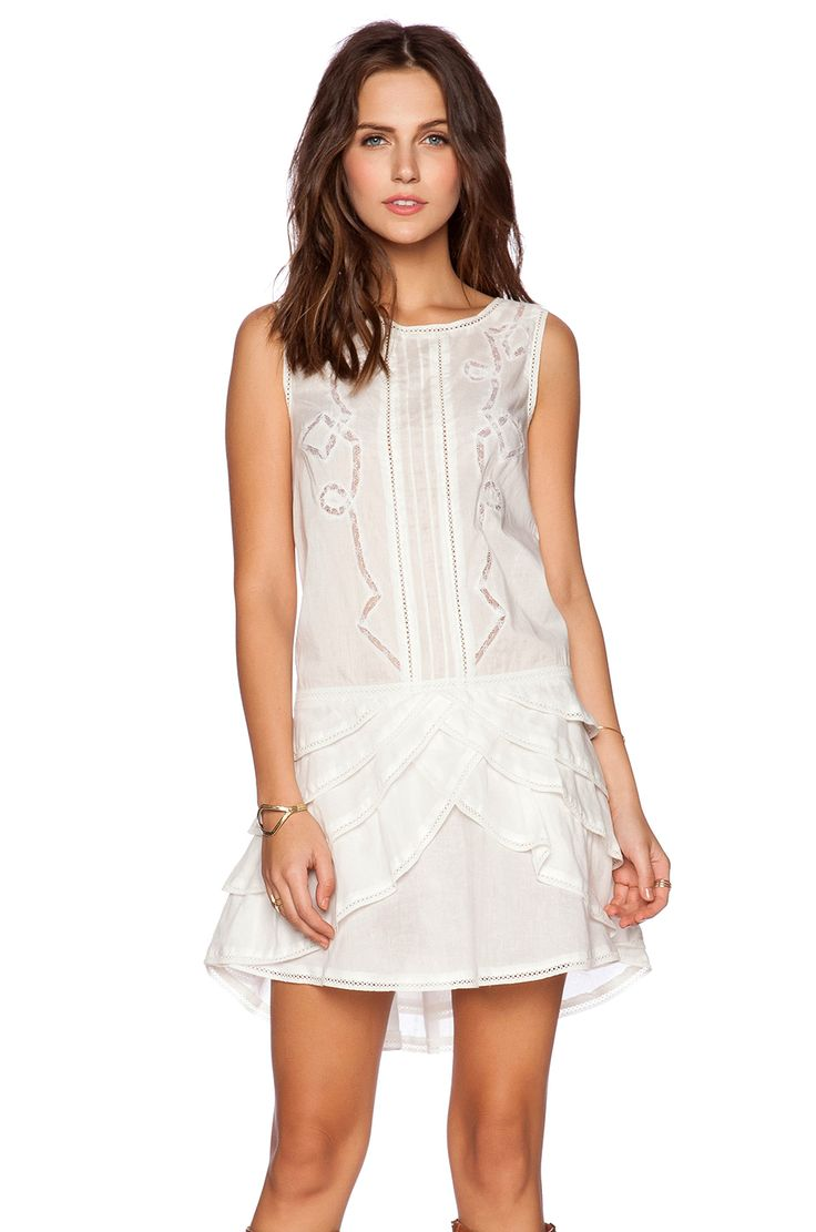 Pam & Gela Voile Dress in White