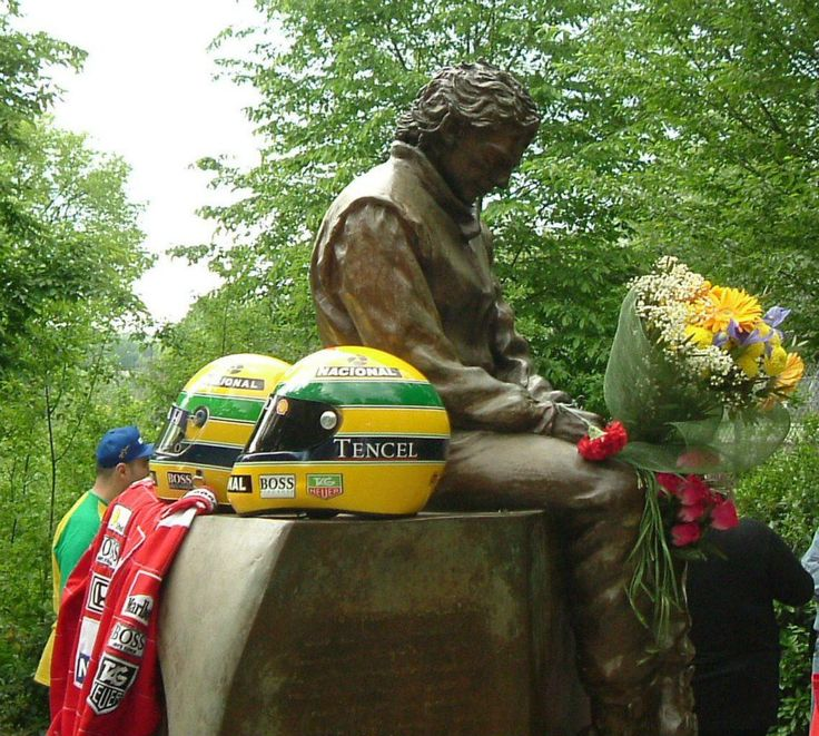 The Ayrton Senna memorial at Imola.