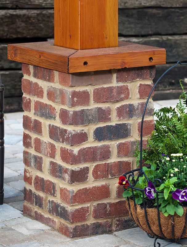 Image Result For Brick Base For Wooden Posts Brick Columns Brick Porch Porch Columns